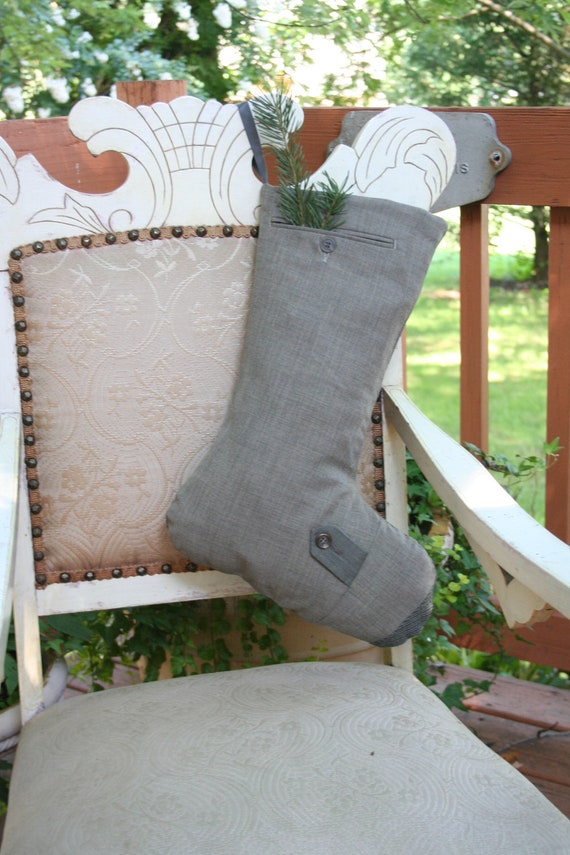 London Fog - Recycled Wool Christmas STOCKING