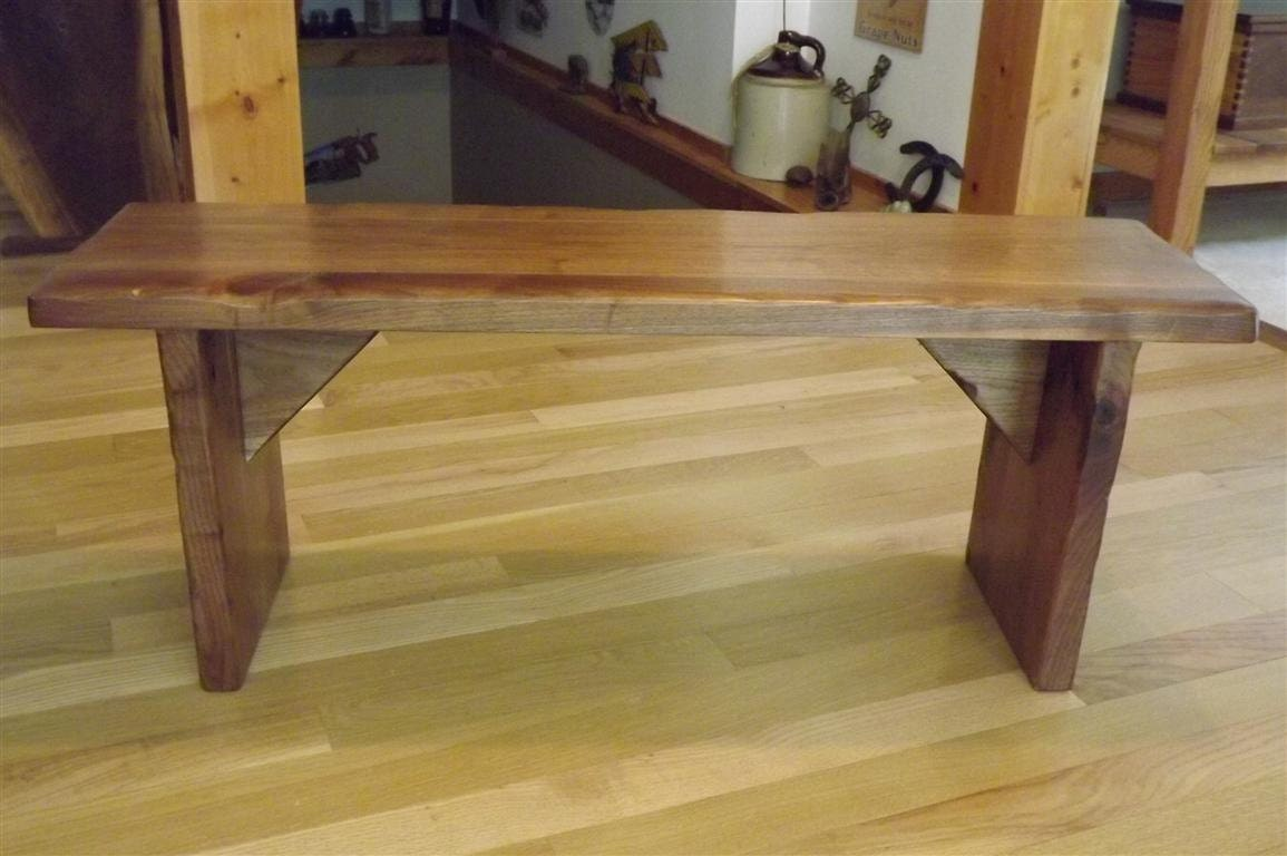 Items Similar To Reclaimed Wood Bench Coffee Table Rustic Solid Black Walnut Smooth On Etsy