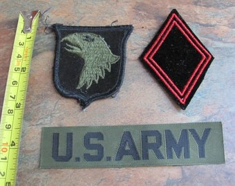 Lot 3 Old Military Patches
