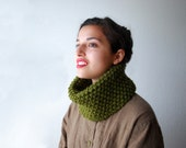 The Mini Cowl in Cilantro Wool Blend