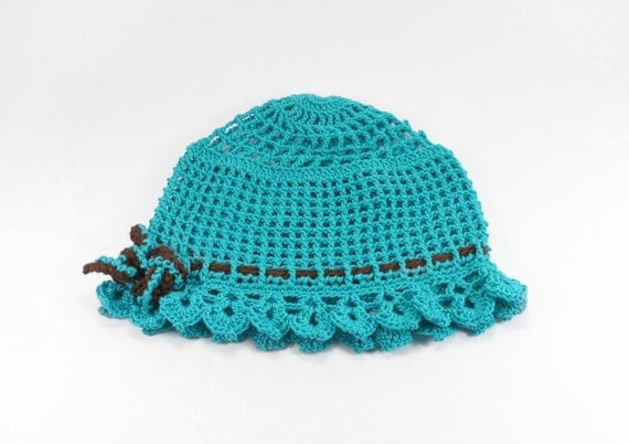 Crocheted Baby Hat - Blue