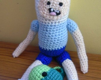 Amigurumi Beemo : Crochet Jake the Dog From Adventure Time Scarf Made to Order