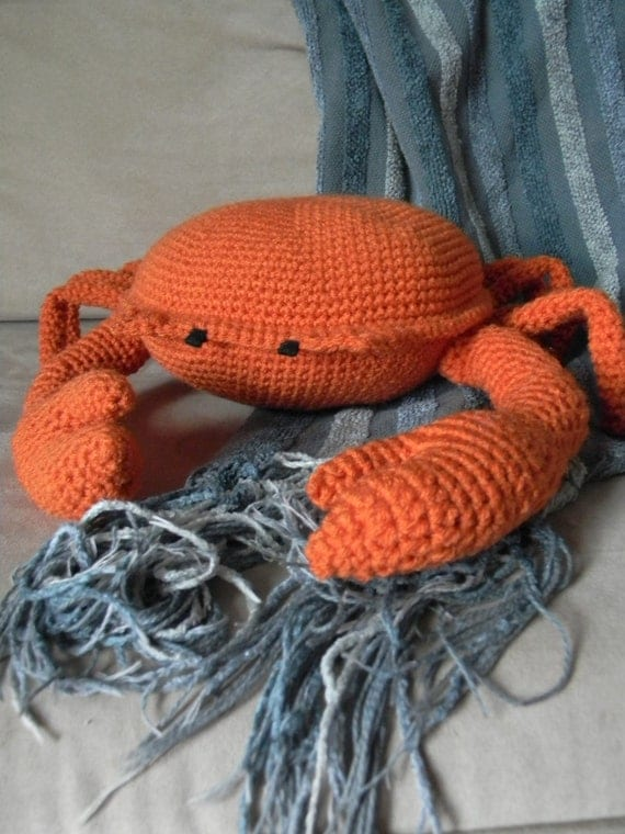 crochet crab pillow