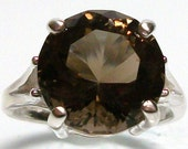 """Reserved for M.R. Smokey quartz high profile sterling silver cocktail ring s7, gifts for her, fine jewelry, birthday,   """"Girls Night Out"""""""