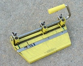Hole Punch, Vintage Office Supply, Boston Desk Accessory, Yellow Dorm Decor