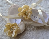 All Cream Dupioni  Baby Shoes Ballerina Slippers