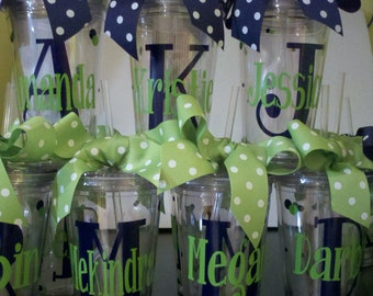 Personalized Decorated Tumblers - Bride, Bridesmaids, Wedding party,  Gifts, Wedding, Friends, Weekends