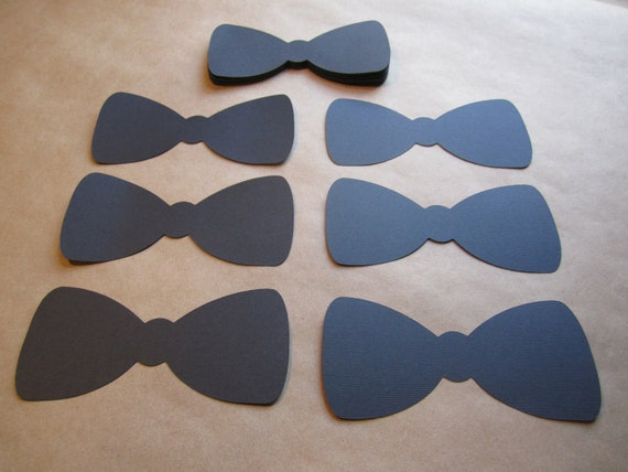 100 paper bow tie cut outs. Black Bedroom Furniture Sets. Home Design Ideas