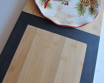 SALE, SALE, SALE!  Wood Cheese Board Set with Chalkboard Frame--Wood Cheese Board.