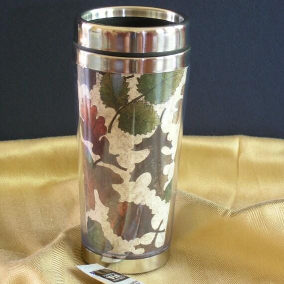 Fall Leaves Stainless Steel Travel Mug 16oz