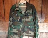 Vintage Camouflage Shirt Jacket, Kids 10 12