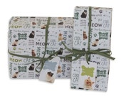 Cat photo wrapping paper. 1 sheet