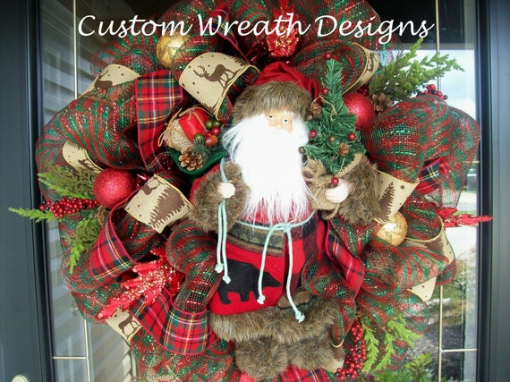 Santa Luxe Christmas Wreath