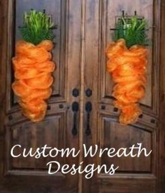 Easter Mesh Carrot Wreath (priced per carrot)