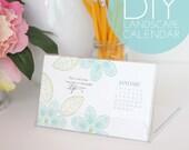DIY Landscape Desk Calendar Kit with Case & Mailer