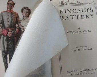 """Rare - first edition - Antique Civil War novel - George W. Cable- Kincaid's Battery"""" 1908"""