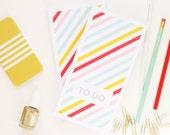 Pencil Shavings Studio Neapolitan Stripe To Do Notepad