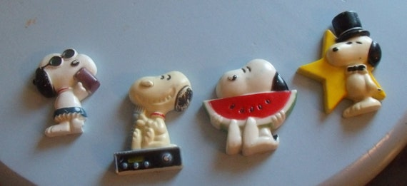 CLEARANCE Collection of Vintage Snoopy Magnets