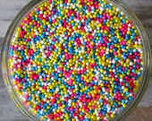 Sprinkles, 3 oz - Baby Non Pareils Mix (pink, blue, yellow, white) - For Cupcakes - Cake Pops - Cookies - Pretzels - Ice Cream - Cakes