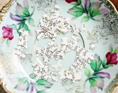 100 Butterfly Paper Confetti Book Page Upcyled Wedding Recycled German Hand Punched Insect Shape Handmade