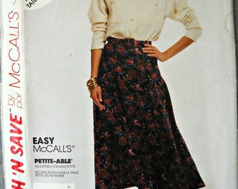 McCall's Stitch 'N Save 4937, Misses Blouse, Skirt, and Belt, Petite-Able, Sizes 14, 16, and 18, Vintage 1990