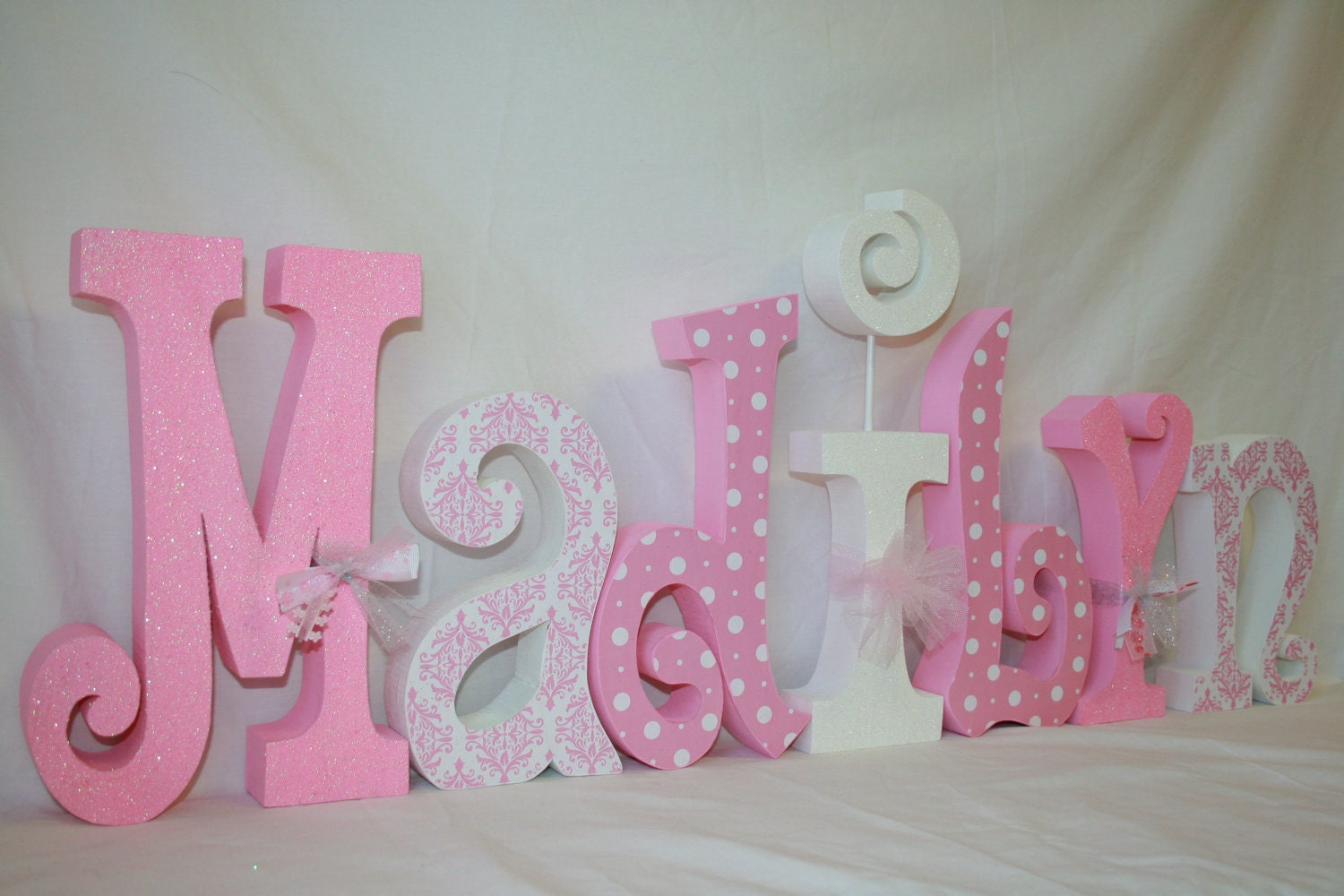 Baby name decorations best baby decoration for Baby room decoration letters