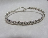 Four Strand Woven Sterling Clasp Bracelet