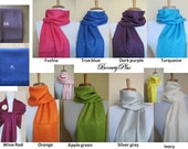 7 Any color (MIX AND MATCH) of your choice of Pashmina Scarfs or Shawls. For other color see my shop