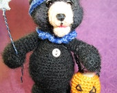 FREE SHIPPING Miniature Halloween Thread Artist Bear