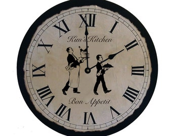 Personalized Kitchen Clock   Kitchen clock   Big Clock   Cool Clock   Unique Clock