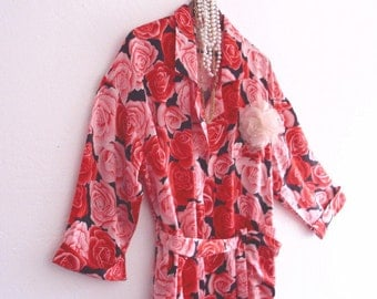 Sale Romantic Floral Robe Dressing Gown Eco Fashion