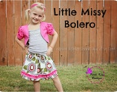 Petite Kids Boutique Little Missy Bolero for Girls 12M-8Y PDF Pattern & Instructions- Puffy Sleeves - Cropped Length- Easy sew