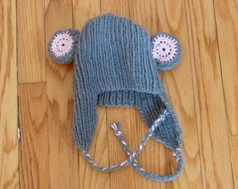 mouse hat with ear flaps