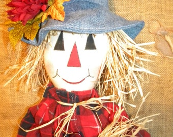 Handmade scarecrow Rag doll  37 inches. Great fall Decoration