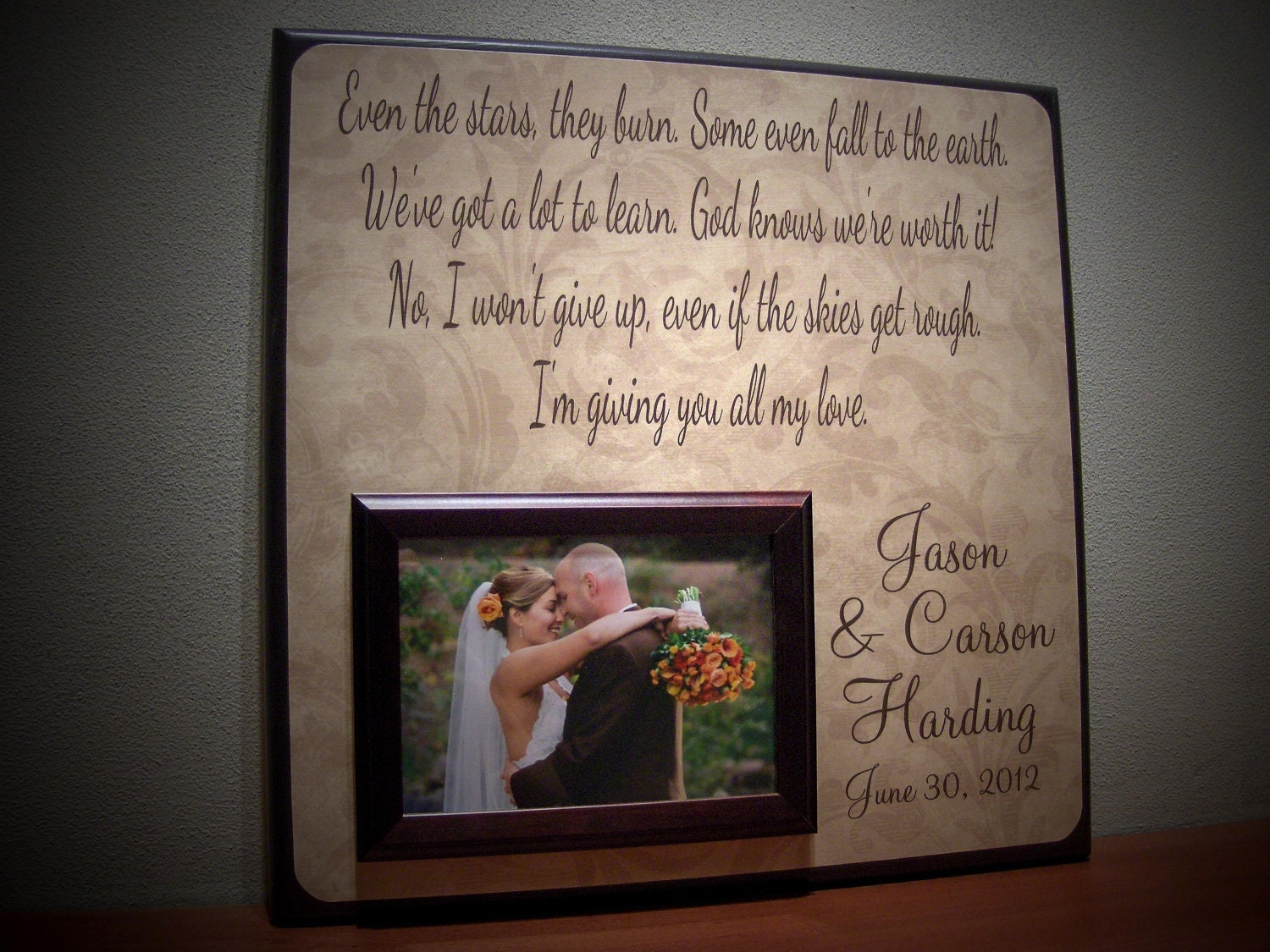 Wedding Song Lyrics Frame FIRST DANCE By YourPictureStory On Etsy