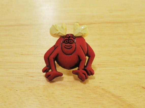 Red Monster with 4 Legs Clog / Shoe Button - Charm for Boys or Girls
