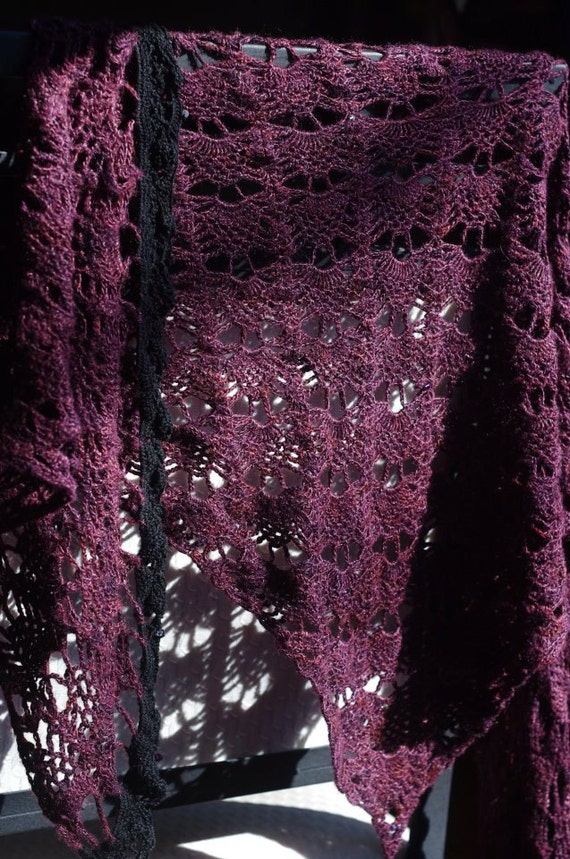 Silk Lace Scarf with Crystals