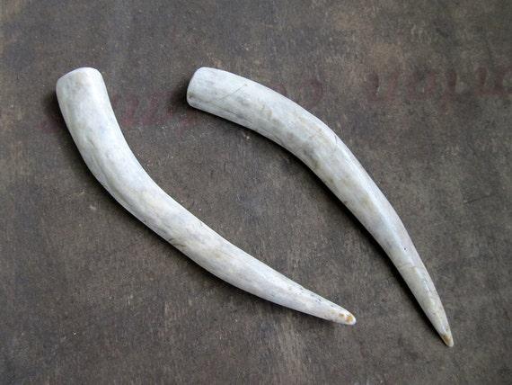 Horn Deer Antler Hair Sticks Small Carved Bone Tribal Fashion Hair Chopsticks