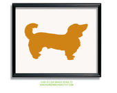 8x10 Custom Dog Silhouette Print