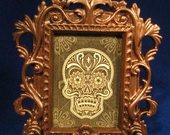 Goth, Vampire, Day of the Dead, Dia De la Muerte Skull Picture decor Halloween