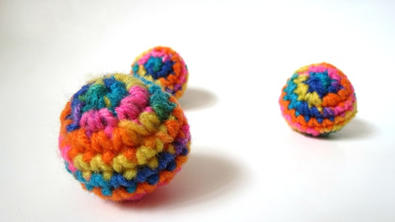 Organic Catnip Tie Dye Cat Balls Set of Three