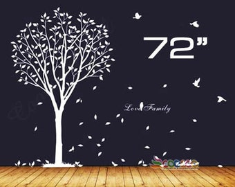 Wall Decal, wall Stickers ,Tree Wall Decals ,Wall decals, Nursery wall decal,Children wall decals, Removable, Tree and Birds
