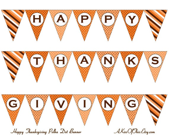 Selective image regarding happy thanksgiving banner printable