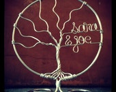 Family Tree Wedding Cake Topper Customized with Names Original Design by Deliziare
