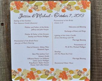 Fall Leaves Banner Autumn Personalized Wedding Program Programs Halloween