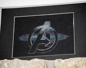 Avengers movie logo cross stitch pattern