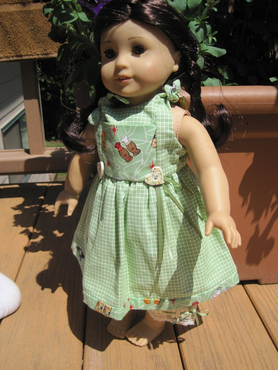 American Girl doll clothes:  salt and pepper, retro print