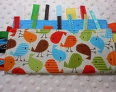 "Bermuda Birds 10"" Crinkle Ribbon Sensory Toy Blanket"