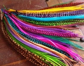 You Pick 6 Colors Custom Feather Extensions LOOSE Feather Hair Extensions Colorful Feather Highlights Largest Color Selection on Etsy