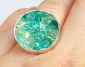 Sea Glass Resin Ring, Seaglass Jewelry